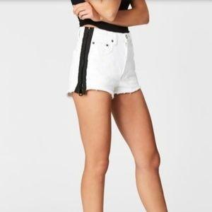 Carmar LF Titania white black side zip high shorts